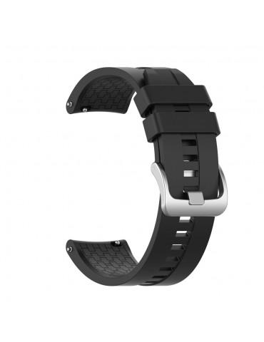 Λουράκι σιλικόνης με hexagon texture για το Huawei Watch GT/GT 2 (46mm)/ GT 2e /GT Active/Honor Magic/Watch 2 Classic - Black