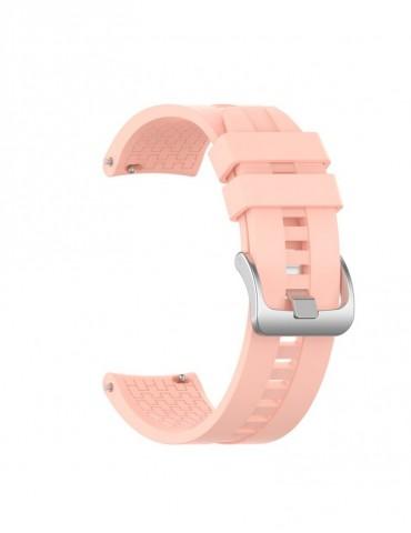 Λουράκι σιλικόνης με hexagon texture για το Huawei Watch GT/GT 2 (46mm)/ GT 2e /GT Active/Honor Magic/Watch 2 Classic - Pink