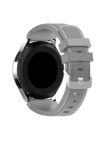 Λουράκι σιλικόνης Twill Texture για το Huawei GT/GT 2 (46mm)/ GT 2e /GT Active/Honor Magic/Watch 2 Classic γκρι OEM
