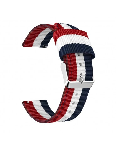 Classic Buckle Nylon Watch Strap Για Το Samsung Galaxy Active / Active 2 40mm / 44mm / Galaxy Watch 3 41mm - Red / White / Blue OEM