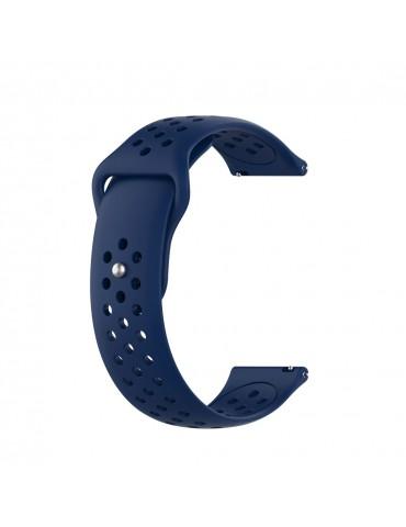 Λουράκι σιλικόνης με τρύπες για το Huawei Watch GT/GT 2 (46mm)/ GT 2e /GT Active/Honor Magic/Watch 2 Classic- Black  Blue