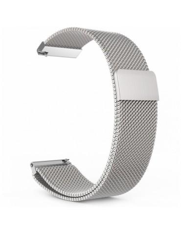 Milanese μεταλλικό λουράκι με μαγνητικό κλείσιμο Για Το Huawei Watch 3 (46mm) / Huawei watch 3 Pro (48mm) / Huawei Watch GT 2 Pro (47mm) / Honor GS Pro 48mm -Silver