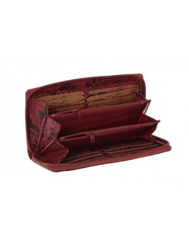 Γυναικείο Δερμάτινο Πορτοφόλι Lavor 1-3667 - Κόκκινο