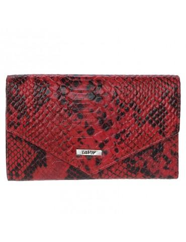 Γυναικείο Δερμάτινο Πορτοφόλι Lavor 1-3668 - Κόκκινο