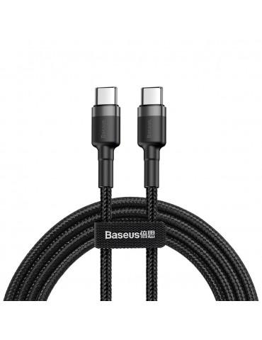Καλώδιο Baseus Cafule Braided USB 2.0 USB-C male - USB-C male 2m CATKLF-HG1 - Μαύρο
