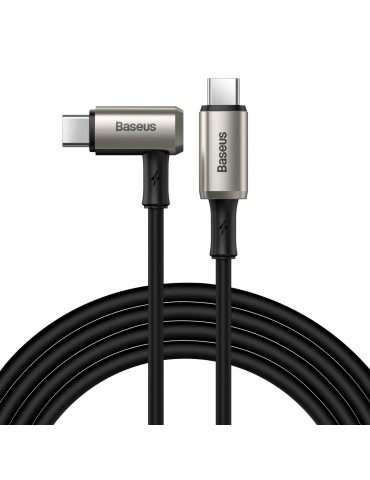 Baseus elbow USB Typ C - USB Typ C cable VOOC Quick Charge Power Delivery 100 W 5 A 1,5 m (USB 3.2 Gen 2 / 4K@60 Hz) black