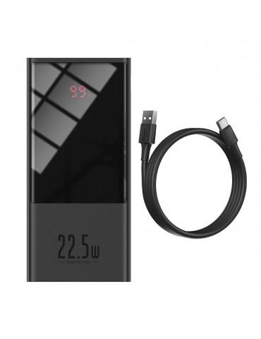 Powerbank Baseus Super Mini, 20000mAh, USB + USB-C, SCP, QC 3.0, PD, 22.5W (black)