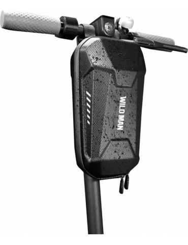 """Αδιάβροχη Μπροστινή Τσάντα Αποθήκευσης WildMan """"M"""" για Electric Scooter Μαύρο"""