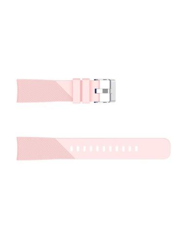 Twill Texture λουράκι σιλικόνης για το Amazfit GTS 2e (43mm)/GTS 2 (43mm)/GTS 2 mini -Pink