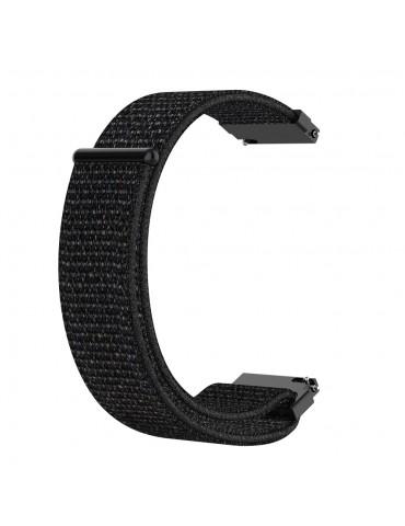 Nylon λουράκι με αυτοκόλλητο κλείσιμο για το Xiaomi Mi Watch- Black