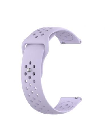 Λουράκι σιλικόνης με τρύπες Για Το Xiaomi Mi Watch- Light Purple