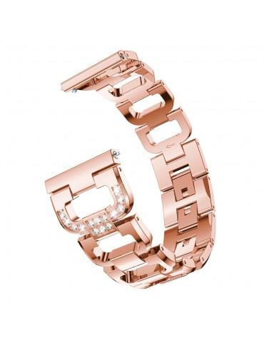 Μεταλλικό λουράκι Diamond Pattern Για Το  Amazfit GTS 2e (43mm)/GTS 2 (43mm)/GTS 2 mini  - Rose Gold