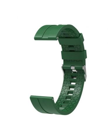 Λουράκι σιλικόνης hexagon για το Xiaomi Mi Watch - Army Green