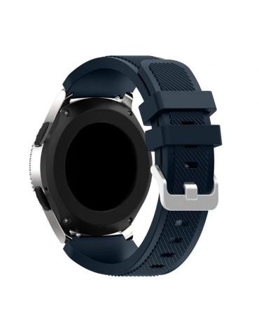 Twill Texture Λουράκι σιλικόνης Για Το Xiaomi Mi Watch -Dark Blue