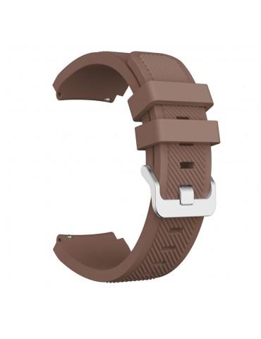 Twill Texture Λουράκι σιλικόνης Για Το Amazfit GTR 2e 46mm/ GTR 46mm-  Brown