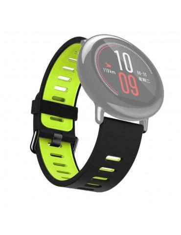 Λουράκι σιλικόνης για το  Xiaomi Mi Watch - Black / Green
