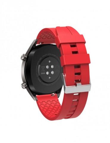 Λουράκι σιλικόνης με hexagon texture για το  Xiaomi Mi Watch - Red