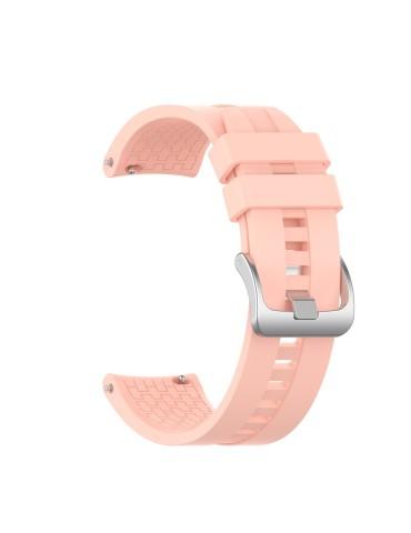 Λουράκι σιλικόνης με hexagon texture για το  Xiaomi Mi Watch - Pink