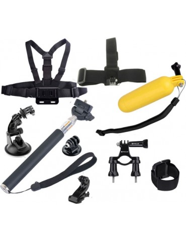 GoPro Mini Accessory Set Kit 9 τεμάχια με θήκη για GoPro & Action Cameras
