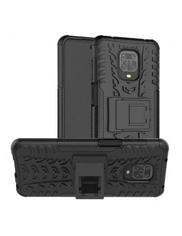 Θήκη Πλάτης Armor με Kickstand για Xiaomi Redmi Note 9 Pro/Pro Max /Note 9S - Black