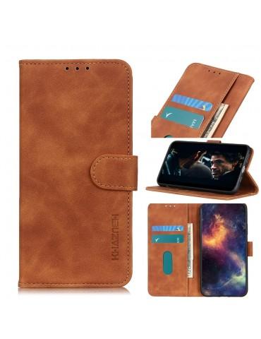 Δερμάτινη Θήκη/ Πορτοφόλι Με Μαγνητικό Κλείσιμο Για Το Xiaomi Mi Note 10 Lite - Brown