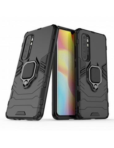 Θήκη Πλάτης Armor με Ring για τo Xiaomi Mi Note 10 Lite - Black