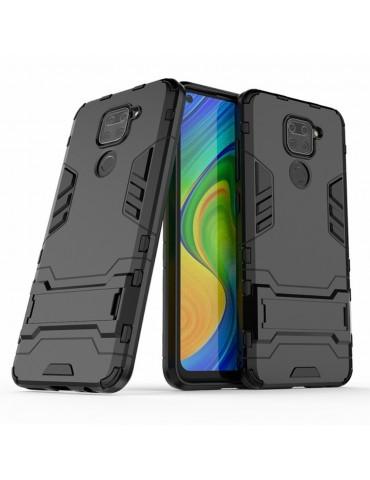 Θήκη Πλάτης Armor με Kickstand για το Xiaomi Redmi Note 9/Redmi 10X 4G - Black