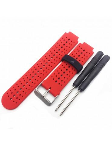 Λουράκι σιλικόνης για το  Garmin Forerunner 220/230/235/630/620/735 - Red / Black