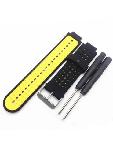 Λουράκι σιλικόνης για το Garmin Forerunner 220/230/235/630/620/735 - Yellow / Black