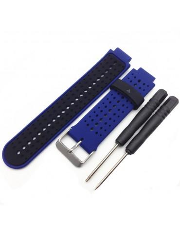 Λουράκι σιλικόνης για το Garmin Forerunner 220/230/235/630/620/735 - Black / Dark Blue