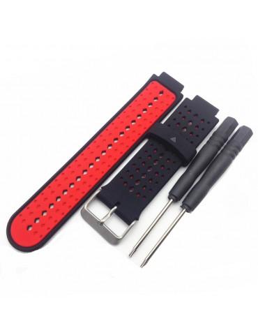 Λουράκι σιλικόνης για το Garmin Forerunner 220/230/235/630/620/735 - Black / Red
