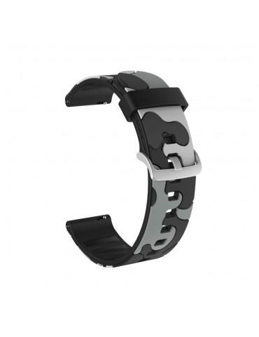 Λουράκι σιλικόνης για το Huawei Watch GT/GT 2 (46mm)/ GT 2e /GT Active/Honor Magic/Watch 2 Classic- Camo Grey