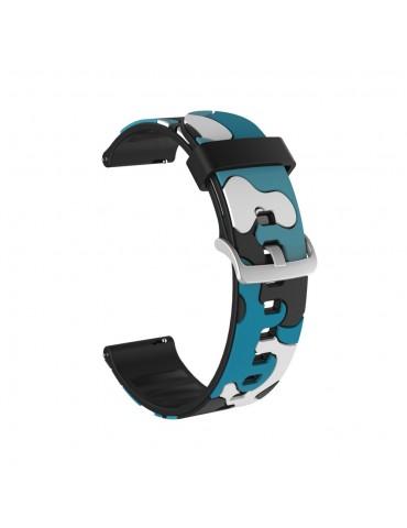 Λουράκι σιλικόνης για το Huawei Watch GT/GT 2 (46mm)/ GT 2e /GT Active/Honor Magic/Watch 2 Classic- Camo Blue