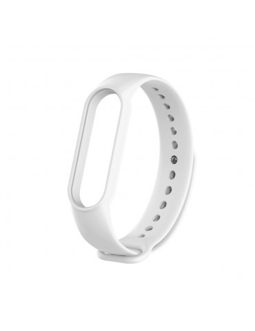 Λουράκι σιλικόνης για το Xiaomi Mi Band 5 - White