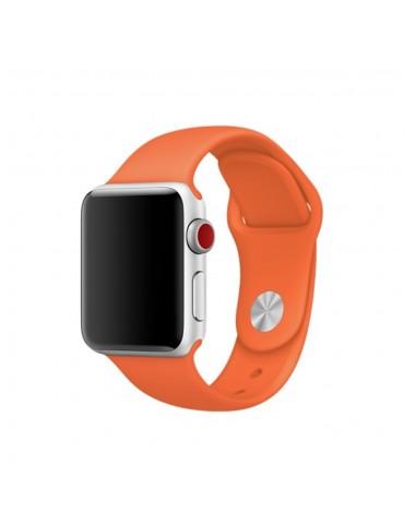 Λουράκι Σιλικόνης Πορτοκαλί (Apple Watch 42/44mm)