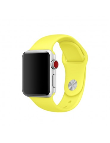 Λουράκι Σιλικόνης Κίτρινο (Apple Watch 42/44mm)