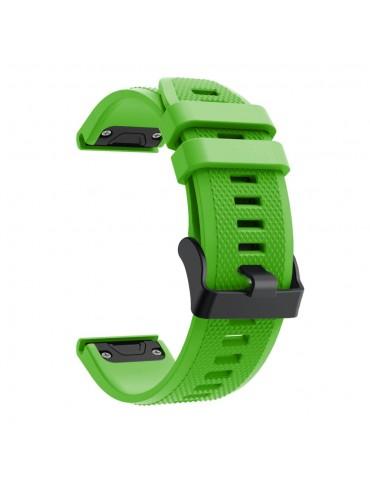 Λουράκι Σιλικόνης Για Garmin Fenix 5/5 Plus/6/6 Pro/Forerunner 935/945/Quatix 5/Instinct OEM - Green