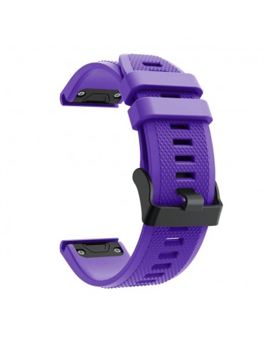 Λουράκι Σιλικόνης  Για Garmin Fenix 5/5 Plus/6/6 Pro/Forerunner 935/945/Quatix 5/Instinct OEM - Purple
