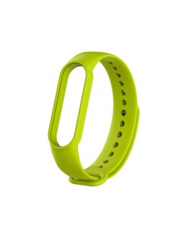 Λουράκι σιλικόνης για το Xiaomi Mi Band 5- Yellowgreen