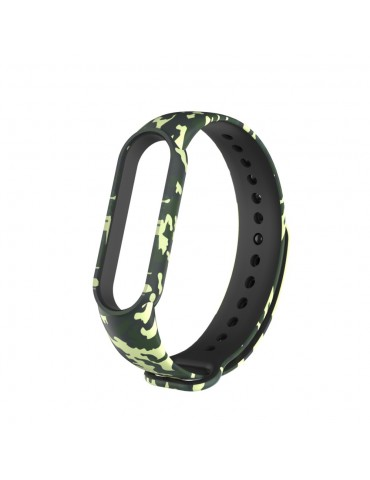 Λουράκι σιλικόνης για το Xiaomi Mi Band 5- Green/Camouflage