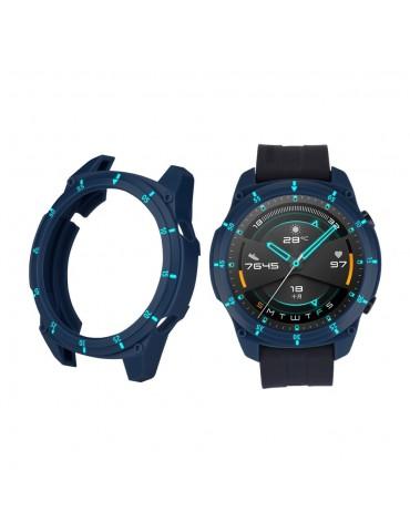 Σκληρή θήκη σιλικόνης με αρίθμηση για το Huawei Watch GT 2 46mm - Midnight Blue/Sky Blue