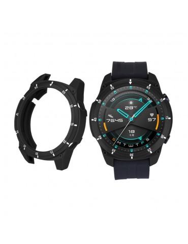 Σκληρή θήκη σιλικόνης με αρίθμηση για το Huawei Watch GT 2 46mm - Black/White