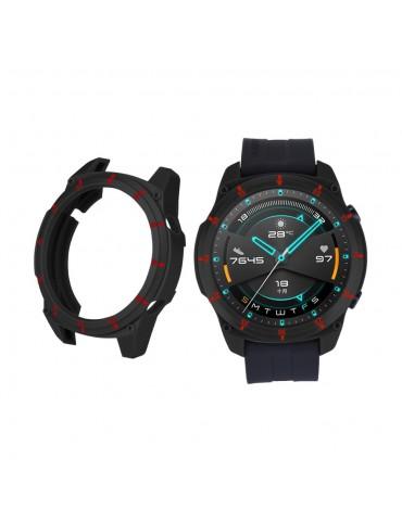 Σκληρή θήκη σιλικόνης με αρίθμηση για το Huawei Watch GT 2 46mm - Black/Red
