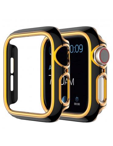 Σκληρή θήκη προστασίας για το Apple Watch Series 4/5/6/SE 44mm - Black/Rose Gold