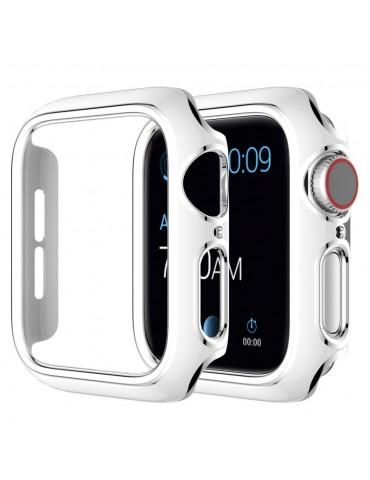 Σκληρή θήκη προστασίας για το Apple Watch Series 4/5/6/SE 44mm - White/Silver