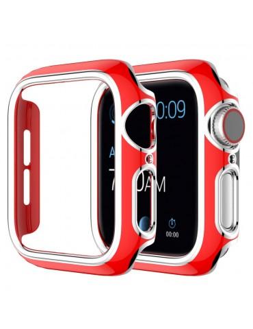Σκληρή θήκη προστασίας για το Apple Watch Series 4/5/6/SE 44mm - Red/Silver