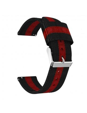 Classic Buckle Nylon λουράκι για το HiFuture HiGear- Black/Red/Black