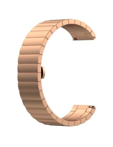 Λουράκι stainless steel bracelet με butterfly buckle για το Amazfit GTR 47mm - Rose Gold