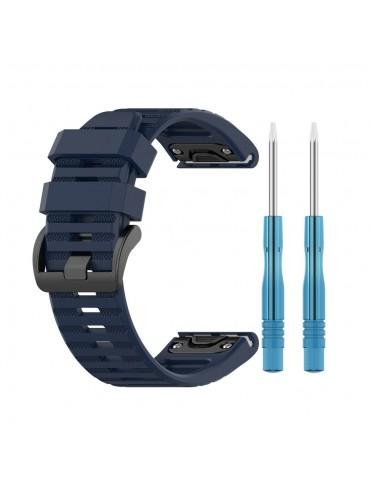 Λουράκι σιλικόνης rugged pattern για το Fenix 3/5x/3HR/5X Plus/6x/6x Pro -Dark Blue