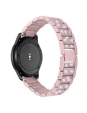 Μεταλλικό λουράκι Strass Pattern Για Το Huawei Watch 3 (46mm) / Huawei watch 3 Pro (48mm) / Huawei Watch GT 2 Pro (47mm) / Honor GS Pro 48mm- Rose Gold